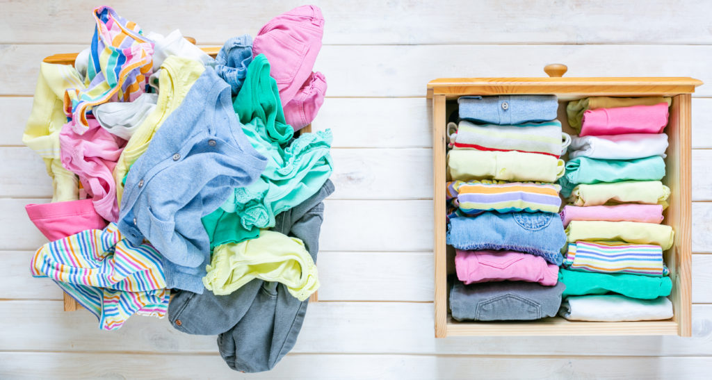Coronavirus Folding Clothes