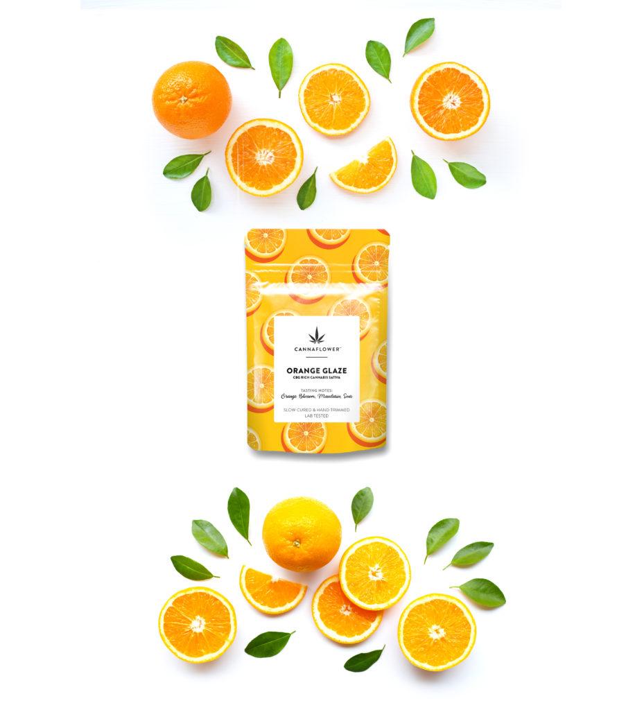Cannaflower Orange Glaze Effects